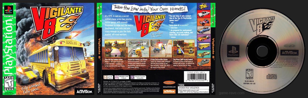 PSX PlayStation Vigilante 8 Greatest Hits Green Label