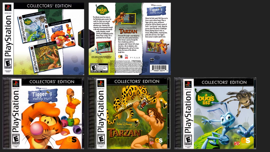 PSX PlayStation Disney Action Games Collector's Edition 3 Pack