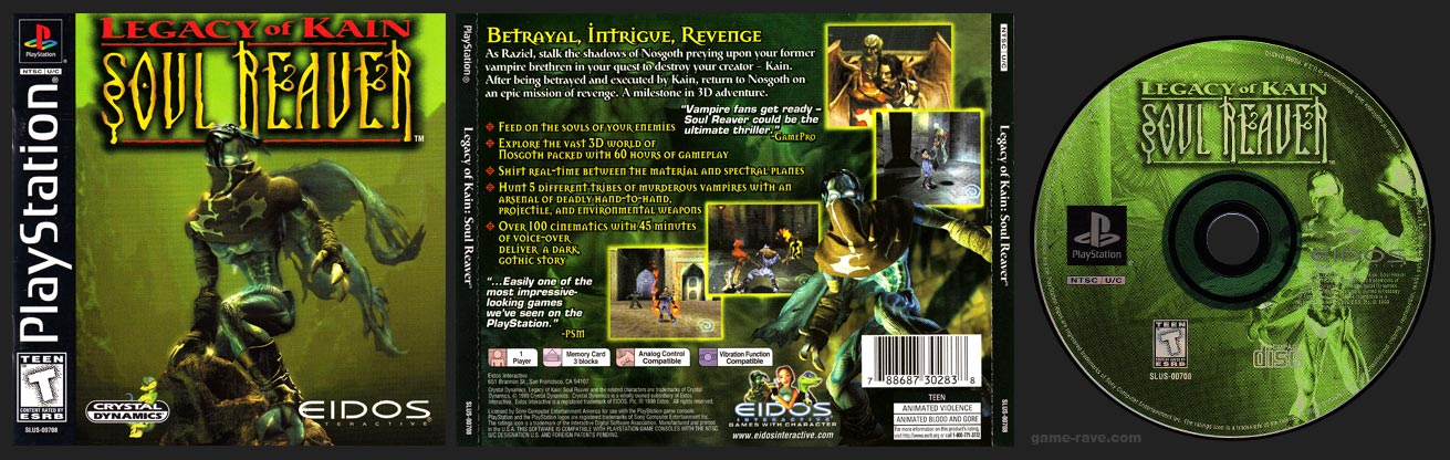 PlayStation Legacy of Kain Soul Revear