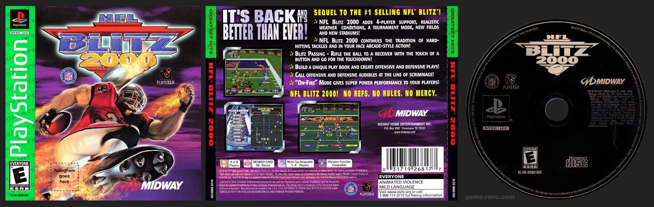PlayStation NFL Blitz 2000 Greatest Hits