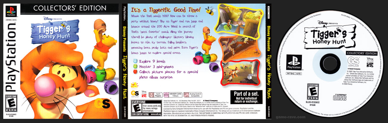 PSX Tigger's Honey Hunt Collector's Edition Release