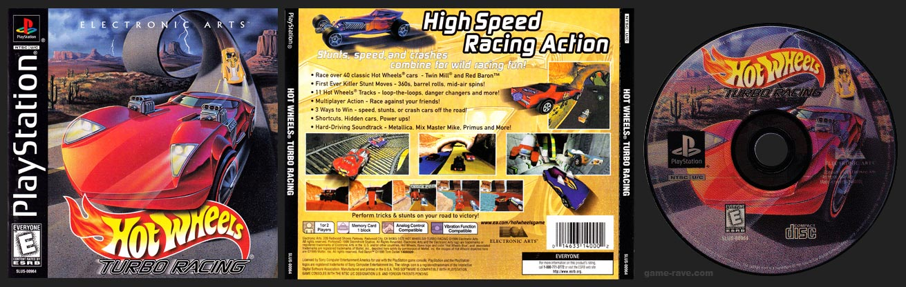 PSX PlayStation Hot Wheels Turbo Racing Black Label Retail Release
