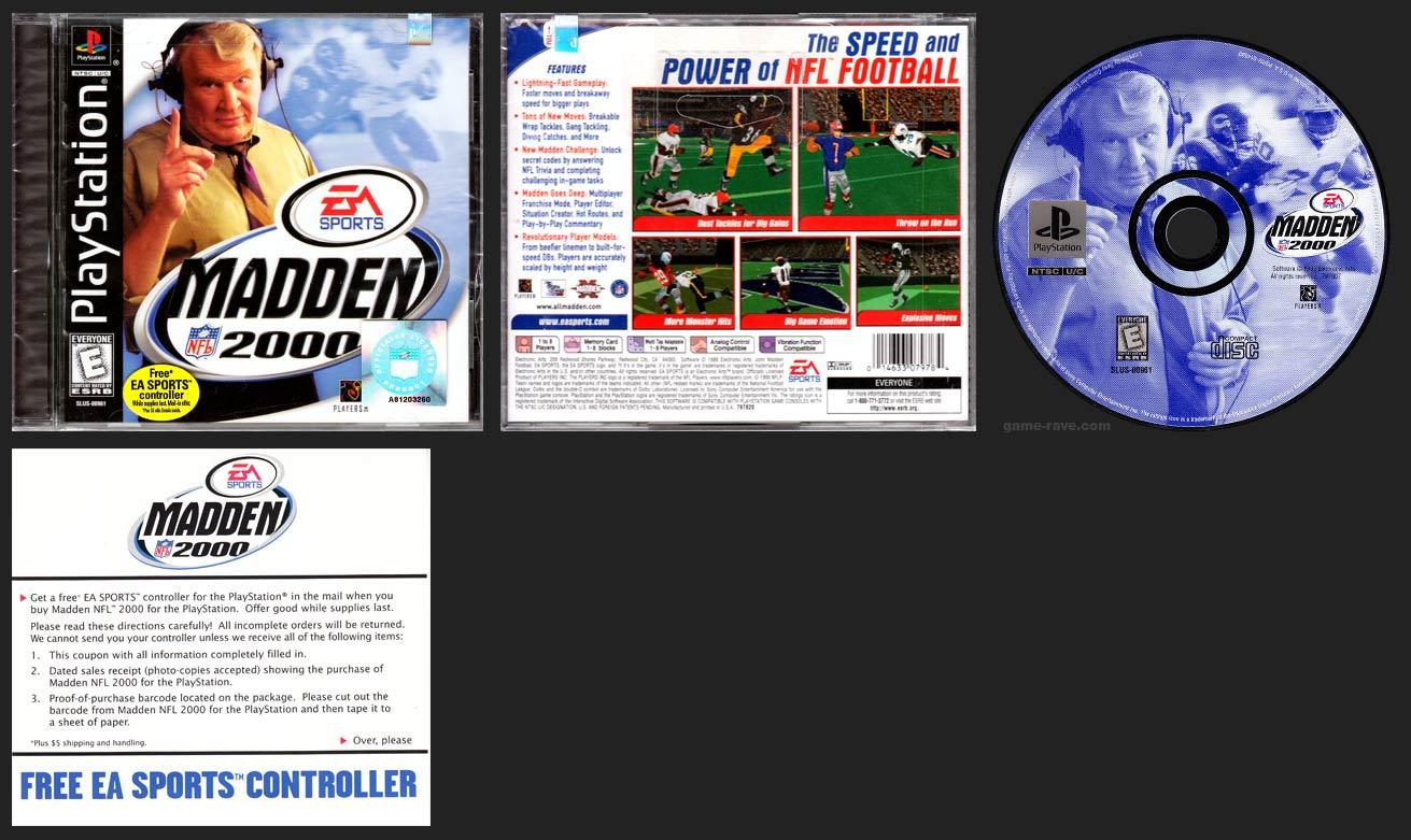 PlayStation Madden NFL 2000 Free Controller Offer