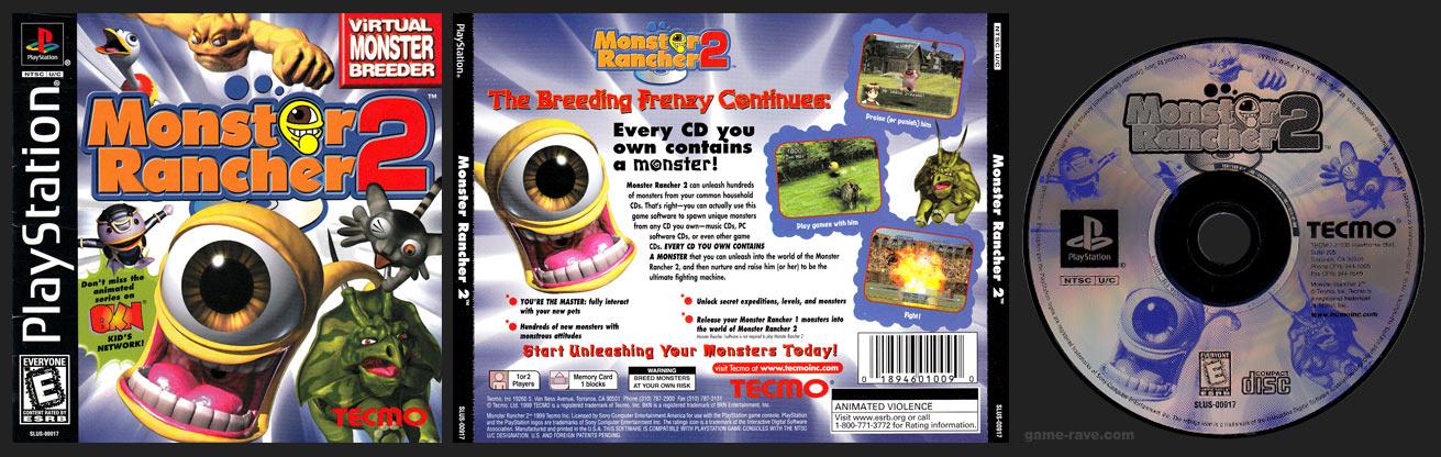 PSX PlayStation Monster Rancher 2 Black Label Retail Release