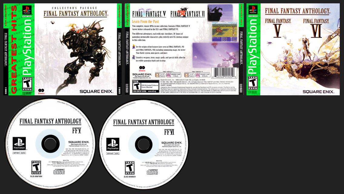 PlayStation Final Fantasy Anthology Greatest Hits