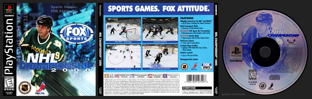 PSX PlayStation NHL Championship 2000 Black Label Retail Release