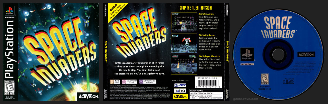 PlayStation Space Invaders