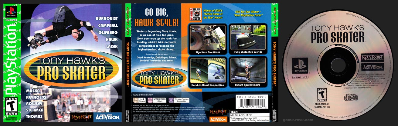 PlayStation Tony Hawk's Pro Skater Greatest Hits