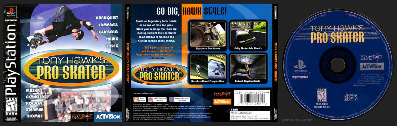 PSX PlayStation Tony Hawk's Pro Skater Black Label Retail Release