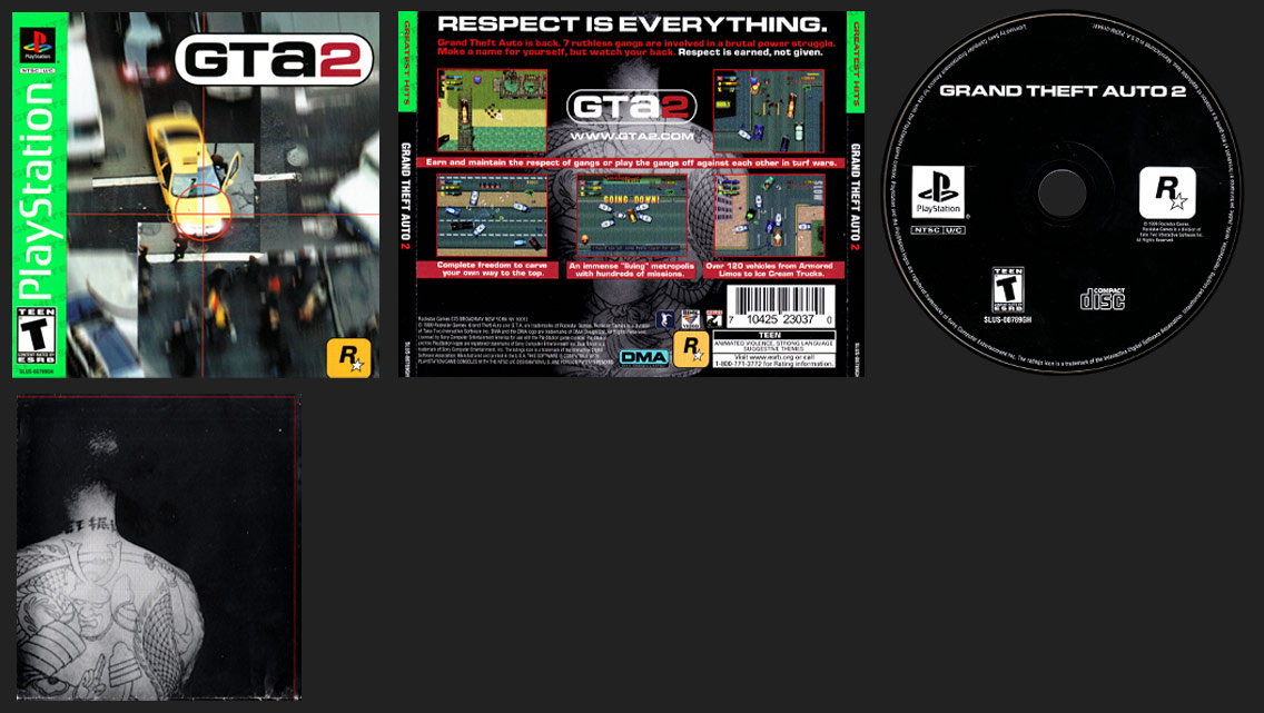 PlayStation Grand Theft Auto 2 Greatest Hits