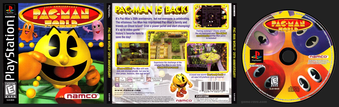 Pac Man World Game Rave Com Every Playstation Namco Game