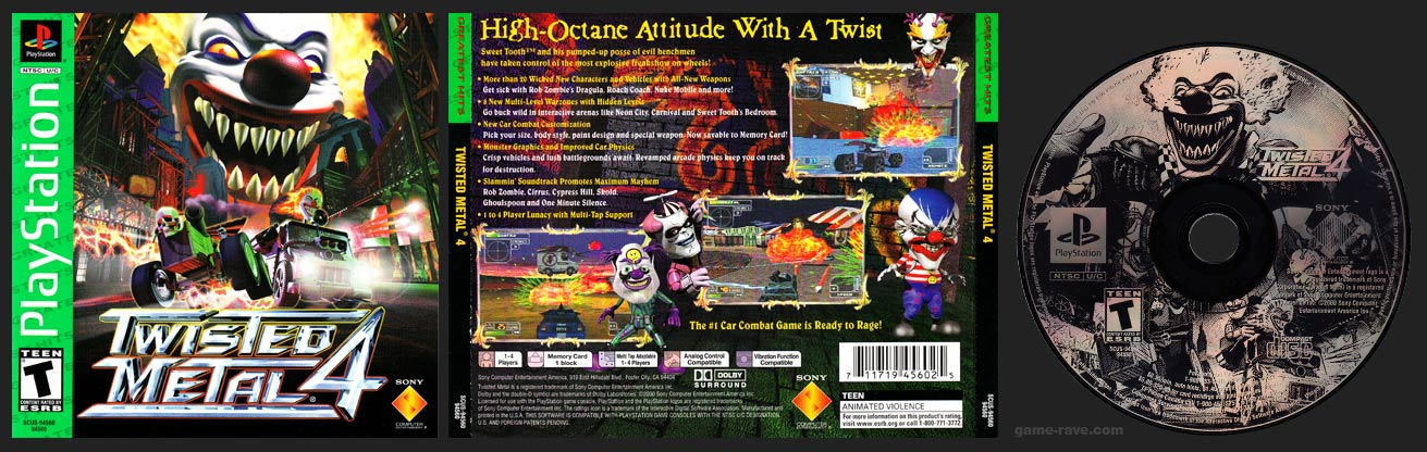 PlayStation Twisted Metal 4 Greatest Hits