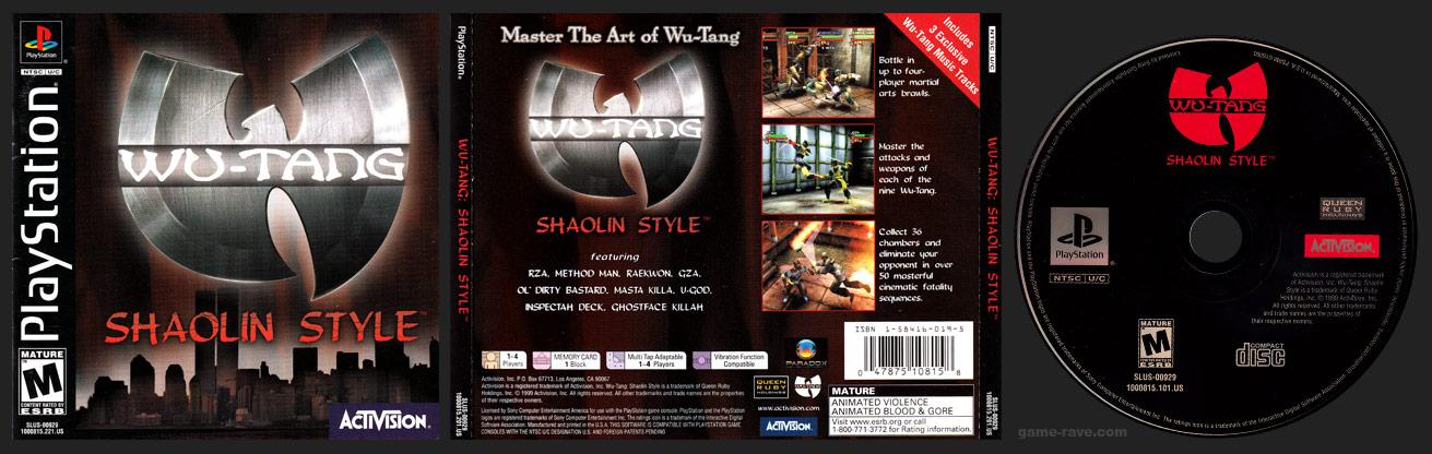 PlayStation Wu-Tang Shaolin Style