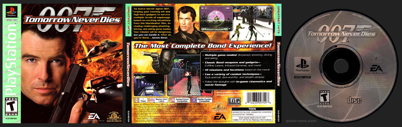 PSX PSX: 007: Tomorrow Never Dies Greatest Hits