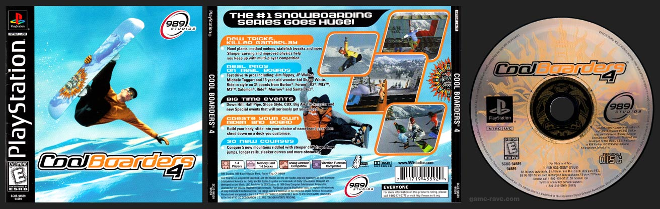 PlaySTation Cool Boarders 4