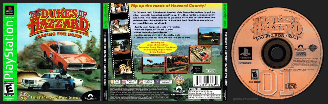 PlaySTation Dukes of Hazzard: Racing for Home