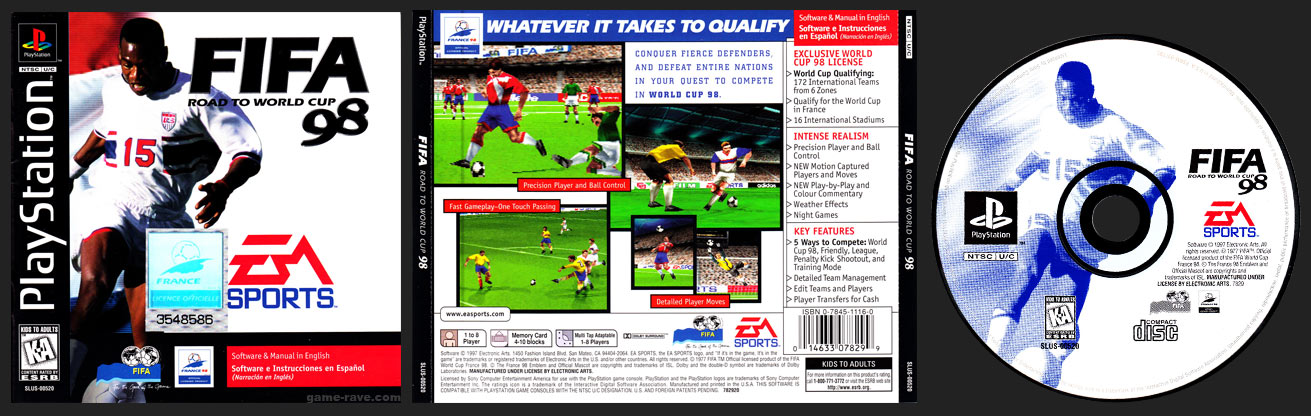 PlayStation FIFA Soccer 98: Road to the World Cup