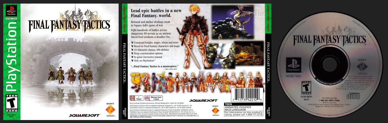 PSX PlayStation Final Fantasy Tactics Black Label Retail Release