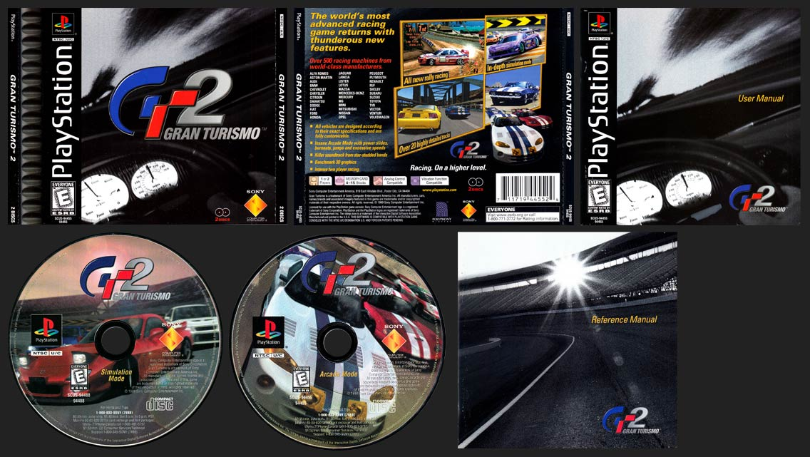 PSX PlayStation Gran Turismo 2 Black Label Retail Release