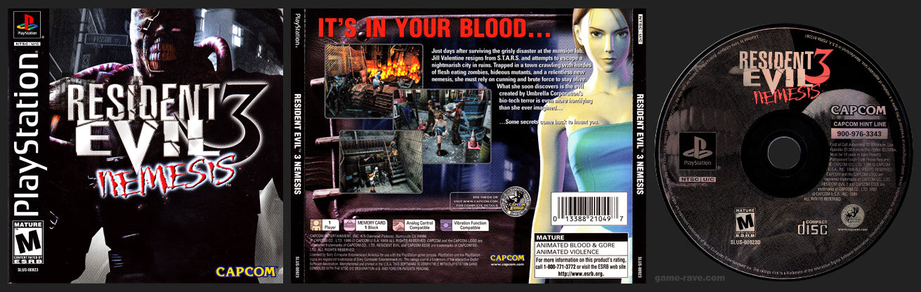 Resident Evil 3 Nemesis Game Rave Com Every Playstation Game