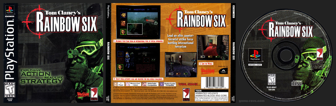 PSX PlayStation Tom Clancy's Rainbow Six Black Label Retail Release