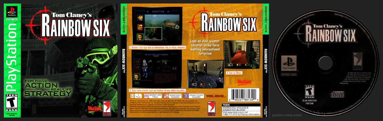 PlayStation Tom Clancy's Rainbow Six Greatest Hits