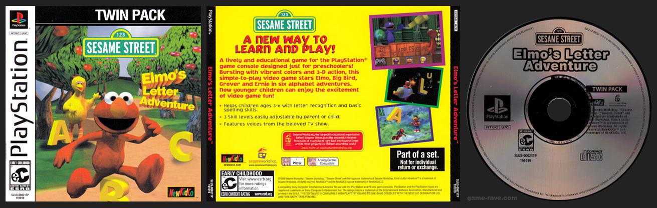 PlayStation Sesame STreet Elmo's Letter Adventure