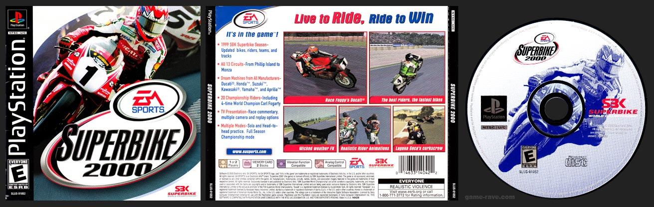PSX PlayStation Superbike 2000 Black Label Retail Release