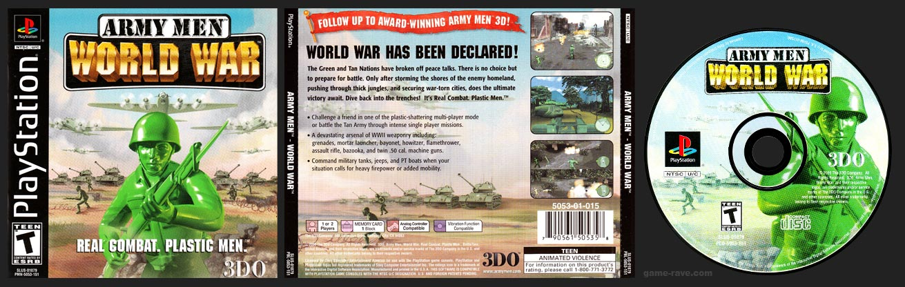 PSX PlayStation Army Men: World War