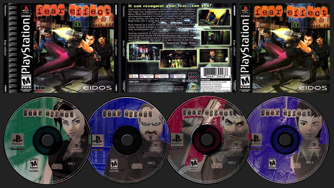 PSX PlayStation Fear Effect Double Jewel Case Black Label Retail Release
