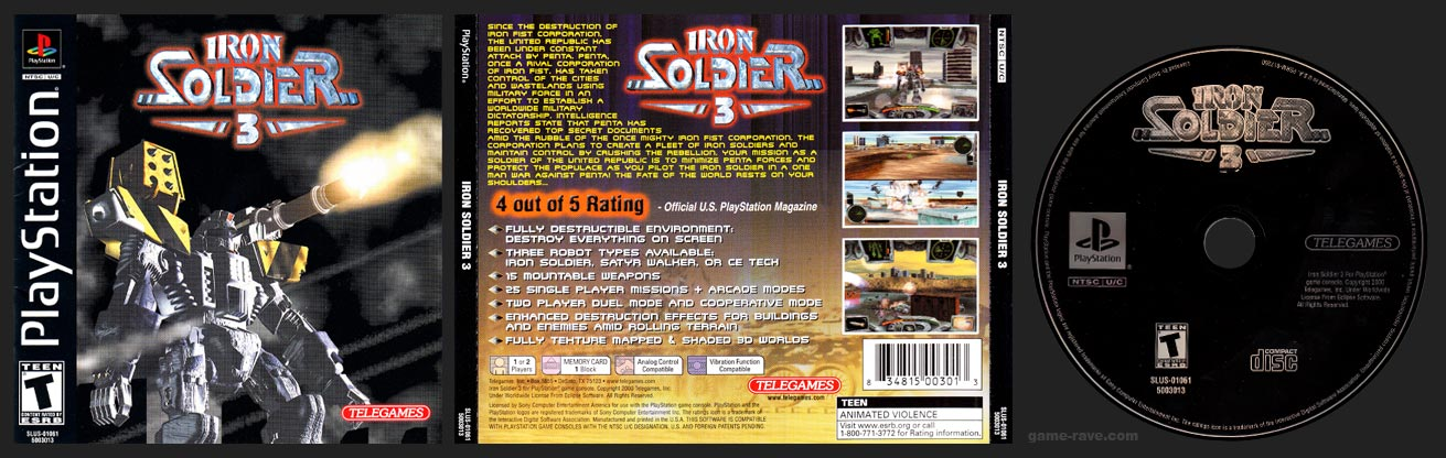 PlayStation Iron Soldier 3