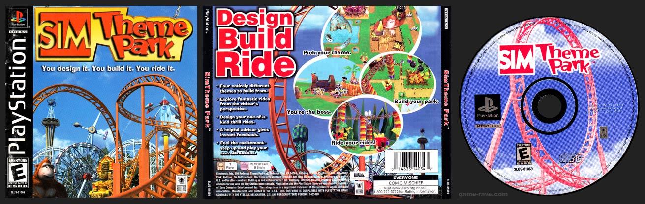 PlayStation Sim Theme Park Blue