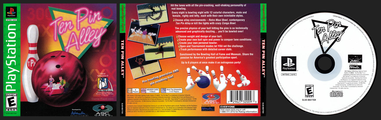PlayStation Ten Pin Alley Greatest Hits