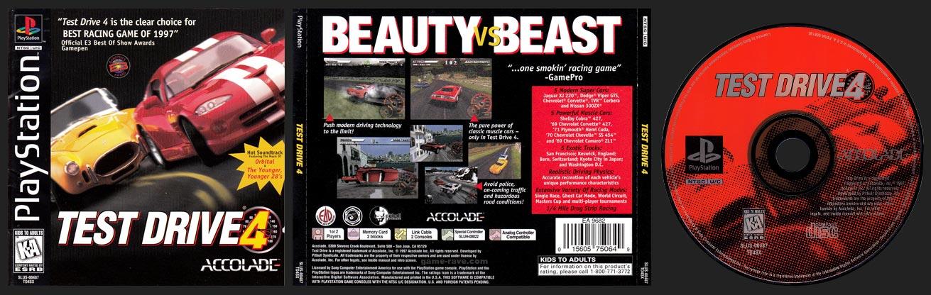 PSX PlayStation Test Drive 4 Black Label Retail Release