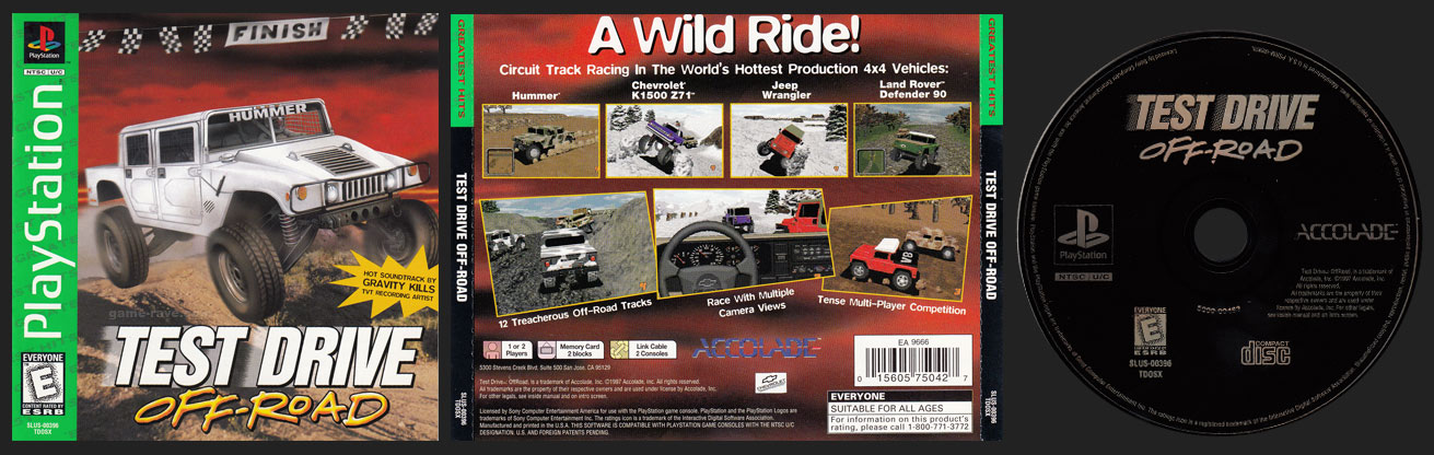 PLayStation Test Drive Off-Road Greatest Hits