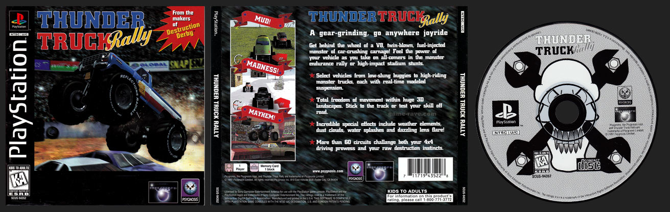 PSX PlayStation Thunder Truck Rally Black Label Single Ring Release