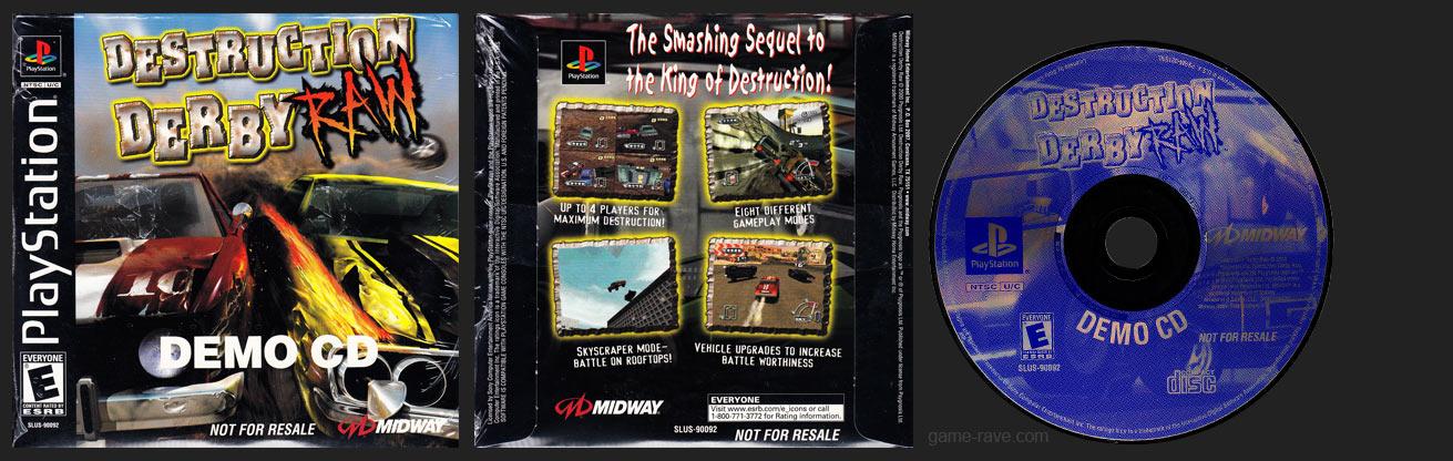 PSX PlayStation Destruction Derby Raw Demo CD