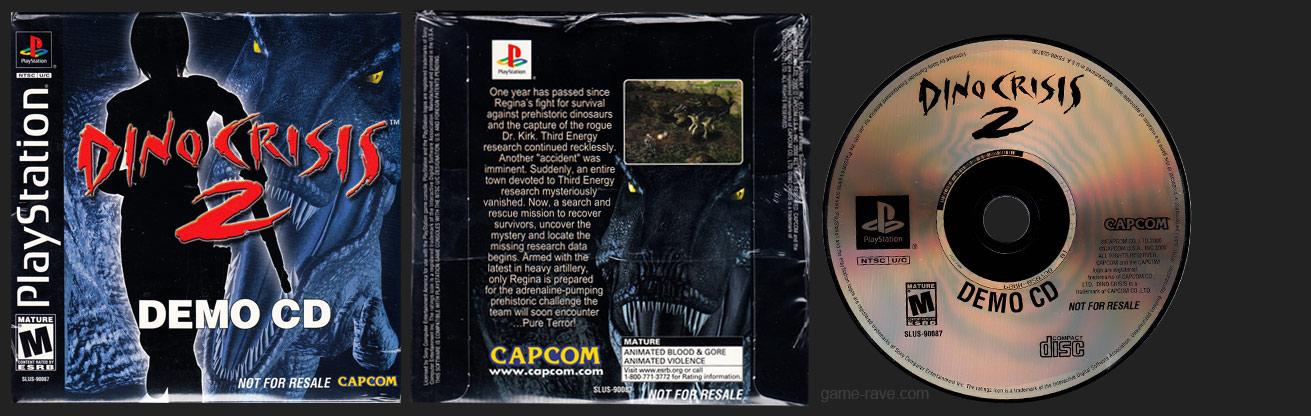 PSX PlayStation Dino Crisis 2 Demo CD