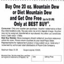 PSX Demo Driver 2 Mountain Dew Coupon Side 1