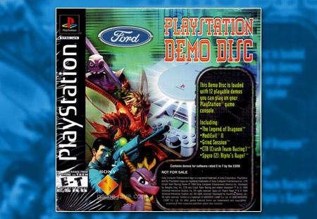 PlayStation Ford Demo Disc Dealership Set