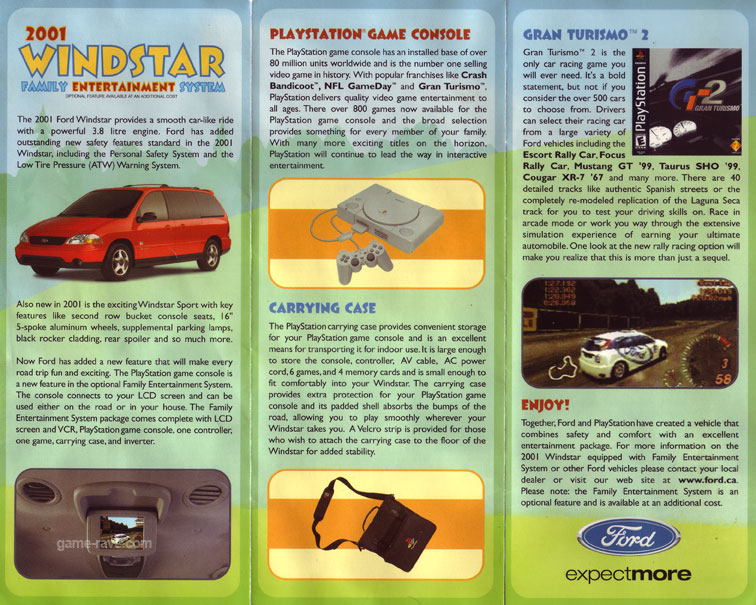 PSX Demo Ford Demo Disc Windstar Brochure Side 2