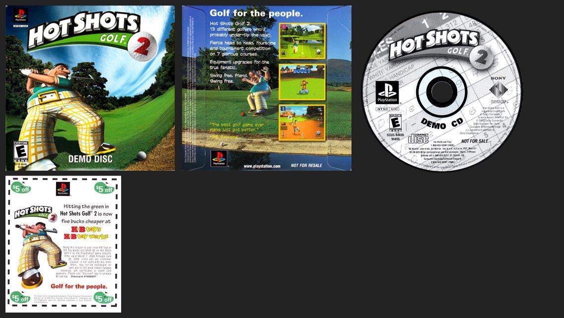 PSX PlayStation Hot Shots Golf 2 Demo Disc