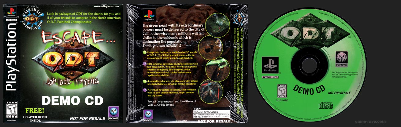 PlayStation O.D.T. Demo Disc