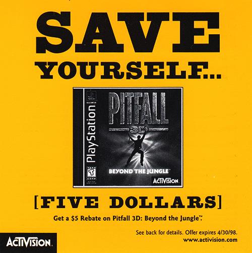 PSX Demo Pitfall 3D Coupon Front Web