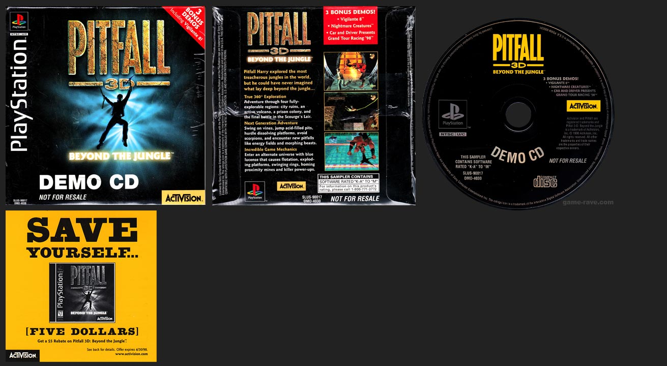 PlayStation Pitfall 3D: Beyond the Jungle