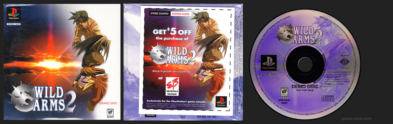PlayStation Wild Arms 2 Electronics Boutique Coupon