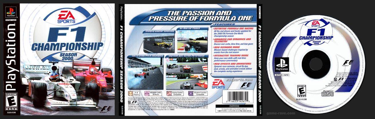 PSX PlayStation F1 Championship Season 2000 Black Label Retail Release