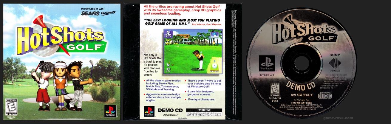 PSX PlayStation Hot Shots Golf Demo CD