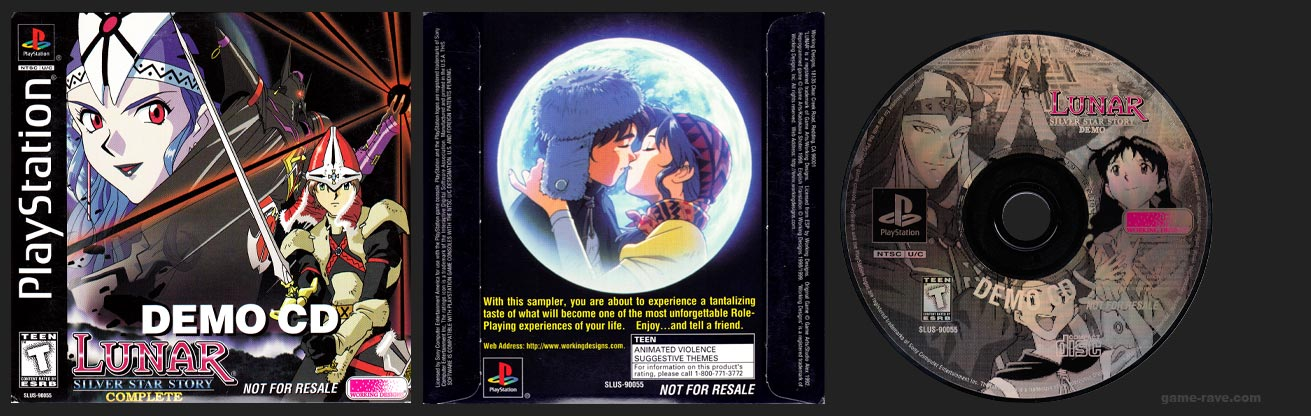PSX PlayStation Lunar: Silver Star Story Complete Demo CD