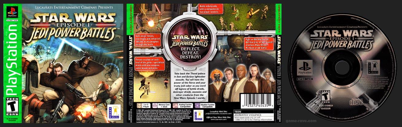 PlayStation Star Wars Episode I Jedi Power Battles Greatest Hits